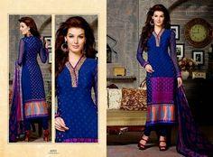 Arina Crape Collection 2014   French Crape Salwar Kameez - FASHIONPAB