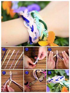 DIY Woven Bracelets by stepintothecruz