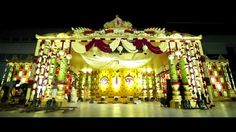 Wedding Hall Decorations, Marriage Decoration, Engagement Decorations, Flower Decorations, Wedding Goals, Wedding Sets, Traditional Wedding Decor, Wedding Background, Event Decor