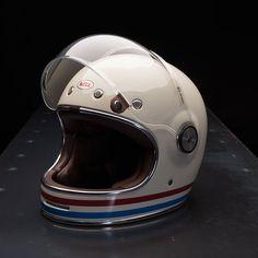 Bell Bullitt Helmet - Stripes Pearl White