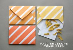 Free fall envelope templates from Oh Happy Day! http://ohhappyday.com/2011/10/diy-fall-envelopes-free-printable/