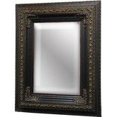 Found it at Wayfair - Decorative Beauty Small Wall Mirror in Dark Gold Patina