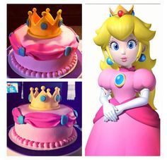 Super Mario brothers princess peach cake