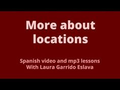 Stating where places are located in Spanish - North South East West - YouTube