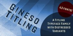 Gineso Titling™ font download