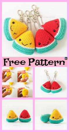 Mesmerizing Crochet an Amigurumi Rabbit Ideas. Lovely Crochet an Amigurumi Rabbit Ideas. Crochet Patterns Amigurumi, Crochet Dolls, Knitting Patterns, Crochet Fruit, Cute Crochet, Easy Crochet Projects, Crochet Crafts, Popular Crochet, Crochet Keychain