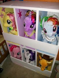 Built this stable for my daughter's My Little Pony Build-a-Bears.