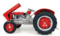 """brandnew 1/16 scale 1958 Ferguson 35 """"Special"""" Tractor. Diecast metal construction with some plastic parts. steerable frontend. Opening hood. Highly detailed engine & operators compartment including gear shift levers and pedals and more. rolleable tires with authentic tread design. Authentic logos and paint scheme. Limited Edition of 1,500 Pieces"""
