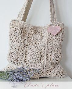 Dada's place - Crochet tote bag