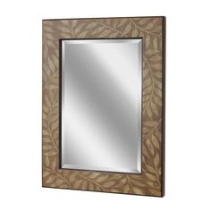 Shop for Decorative Home Accents & Wall Decor Accessories! Decorative Mirrors, Framed Mirrors, Wall Mirror, Wood Glass, Glass Art, Accent Wall Decor, Leaf Silhouette, Home Accents, Decorative Accessories