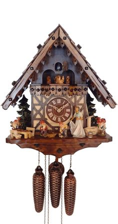 8 Day Musical Snow White and the 7 Dwarfs Cuckoo Clock Love this style of cuckoo clock!