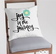 Quote Life Boutique : Inspirational Quote Pillows: Joy in the Journey #joy #pillows #home