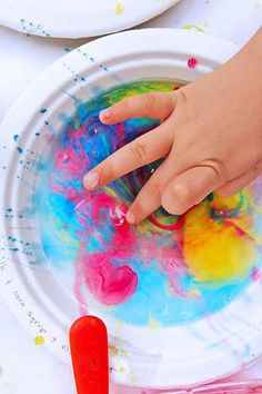 Process Art for Kids - Exploring Ooey Gooey Oily Art
