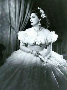 Virginia Zeani as Violetta in La traviata Act 1 1950s