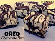 Oreo Cheesecake Bites Recipe from sixsistersstuff.com #dessert #recipe