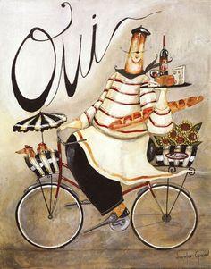 Chef & Wine I by Jennifer Garrant
