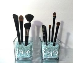 Face and Eyes Makeup Brush Holder  Makeup by HighlandDesignCo                                                                                                                                                                                 More
