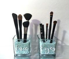 Face and Eyes Makeup Brush Holder Makeup by HighlandDesignCo