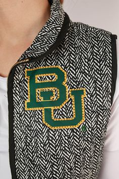 Baylor University Herringbone Vest
