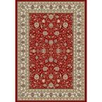Vaughan Red/Ivory 7 ft. 10 in. x 11 ft. 2 in. Indoor Area Rug