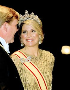 King Willem-Alexander and Queen Maxima of The Netherlands and Emperor Akihito and Empress Michiko of Japan at the State Banquet at the Imperial Palace in Tokyo, Japan, 29 October 2014 ( The Dutch King and Queen visit Japan for an three day state visit from 29 till 31 October)