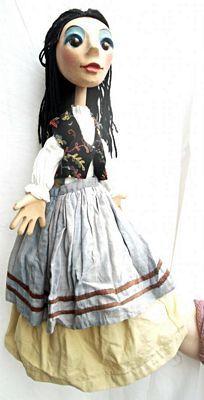 Sweet, female rod puppet