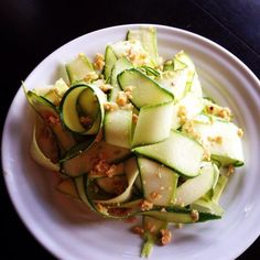 Courgette Ribbons with Almond Pesto