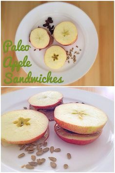 Review of Paleo Pals cookbook and apple sandwiches - paleo snack for kids.