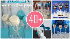 Oh~ Here are fabulous disney frozen marshmallow pop for 2014 Halloween party