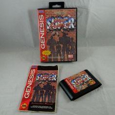 Vintage 1994 Sega Genesis SUPER STREET FIGHTER II  Capcom Video Game Complete