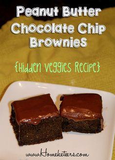 peanut butter chocolate chip brownies hidden veggies recipe