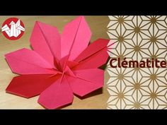 "Origami - Fleur: comment plier un Gerbera [Senbazuru] - YouTube. Success requires crisp folds, crisp paper, paper >2×2"". 8pt version star flower"