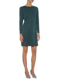 Filippa K Donkergroene stretchjersey jurk • de Bijenkorf