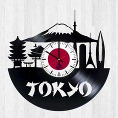 Tokyo Tower 東京 Handmade Vinyl Record Wall Clock - VINYL CLOCKS