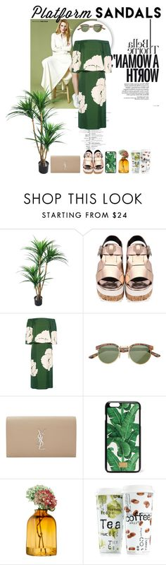 """""""Platform Sandals for the Fall"""" by laritsanicasio ❤ liked on Polyvore featuring TradeMark, TIBI, Yves Saint Laurent, Dolce&Gabbana, LSA International and Könitz"""