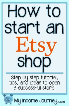 How to open an Etsy shop. Step by step tutorial with tips to help you be successful! Start your own business and be your own boss and enjoy working from home! The complete toolbox that gives you everything you need to start a profitable online business! Business Planning, Business Tips, Online Business, Home Business Ideas, Retail Business Ideas, Family Business, Business Names, Business Marketing, Marketing Website
