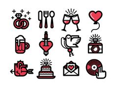 Wedding Icons by Kevin Moran