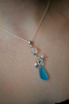 Bridesmaids' sea glass jewelry.