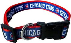 Collars and Tags 66763: Pets First Mlb Chicago Cubs Pet Collar BUY IT NOW ONLY: $31.0