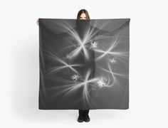 White on black fireworks by Mariia Kalinichenko. Beautiful fractal created in Chaotica program. • Also buy this artwork on apparel, stickers, phone cases, and more.