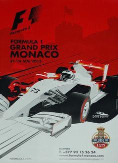 2015 Monaco Grand Prix poster