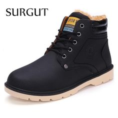 SURGUT Brand Hot Newest Keep Warm Men Winter Boots High Quality pu Leather Casual Boots Working Fahsion Boots Essential Shoes #>=#>=#>=#>=#> Click on the pin to check out discount price, color, size, shipping, etc. Save and like it!