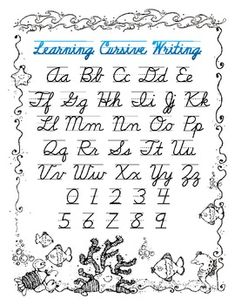 Printables Small Letter Alphabet Hand Writing basic cursive writing lower case my handwriting needs a great resource for students to follow with both upper and letters in cursive