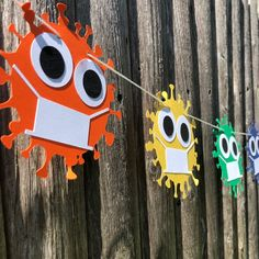 Quarantine Virus Garland Party Banner Germ Decoration | Etsy Happy Birthday Signs, Baby Boy 1st Birthday, Diy Birthday, First Birthday Parties, First Birthdays, Kindergarten Party, Kindergarten Graduation, Graduation Desserts, Graduation Ideas