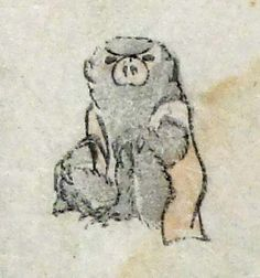 北斎漫画~森羅万象・・・猿?
