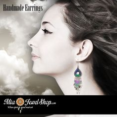 """Check out our handcrafted thread earrings! Our """"Teardrop w/ Hole Thread Earrings Purple Turquoise Green"""" will spark some color into your look. http://miajewelshop.com/shop/product/earrings/product-13/ Only at www.miajewelshop.com. ***Don't forget to use coupon code 'grand10' for 10% off your order. Available until July 15, 2016***"""