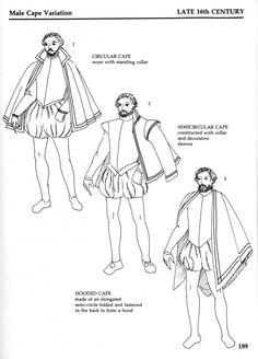 Make cape variation- costume for stage Middle Aged Man, Middle Ages, Cloak Pattern, 16th Century Fashion, Elizabethan Era, Tudor Era, Renaissance Clothing, Fashion History, Mens Fashion