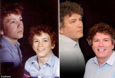 25 of the Most Hilarious Recreated Childhood Photos (PHOTOS) Back To The Future, Back In The Day, Pictures Of People, Funny Pictures, Funny Pics, Childhood Photos Recreated, Photo Recreation, Fade Out, Disney Family