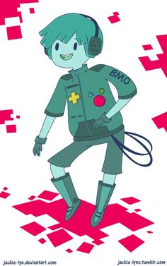 Here's my rather unoriginal design for a human!BMO. I was going for gender neutral butttt it leaned more towards a boy design. Live and learn I guess. tumblr post