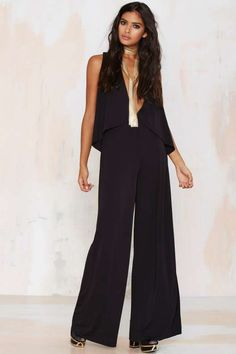 Nasty Gal Keep Up Cape Jumpsuit